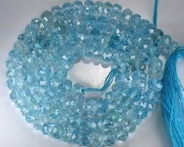 73.83 Cts SouthAmerican Blue Topaz Beads Brazil