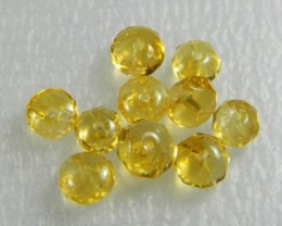Natural Brazil Citrine Faceted Beads Z 2303