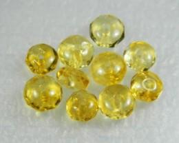 Natural Brazil Citrine Faceted Beads Z 2306