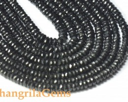 "SALE 5mm 16"" BLACK SPINEL diamond polished AAA faceted beads spb10"