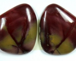 22.3 CTS JASPER PAIR POLISHED STONE GREAT RANGE IN STORE