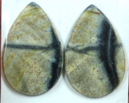 20.3 CTS JASPER PAIR POLISHED STONE GREAT RANGE IN STORE