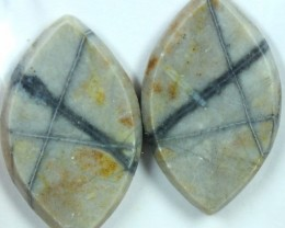 23.1 CTS JASPER PAIR POLISHED STONE GREAT RANGE IN STORE