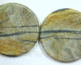 22.0 CTS JASPER PAIR POLISHED STONE GREAT RANGE IN STORE