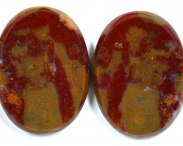 32.1 CTS JASPER PAIR POLISHED STONE GREAT RANGE IN STORE