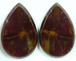 38.9 CTS JASPER PAIR POLISHED STONE GREAT RANGE IN STORE