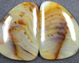 25.4 CTS WYOMING AGATE PAIR PERFECT FOR EARRINGS