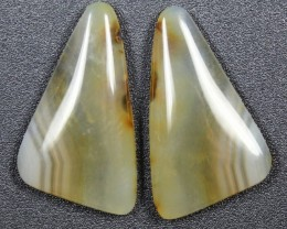 13.1 CTS WYOMING AGATE PAIR PERFECT FOR EARRINGS