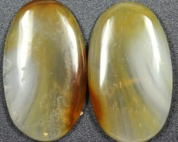 33.5 CTS WYOMING AGATE PAIR PERFECT FOR EARRINGS