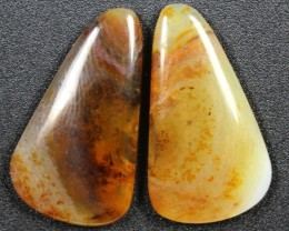 23.5 CTS WYOMING AGATE PAIR PERFECT FOR EARRINGS