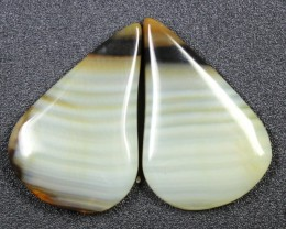 14.3 CTS WYOMING AGATE PAIR PERFECT FOR EARRINGS