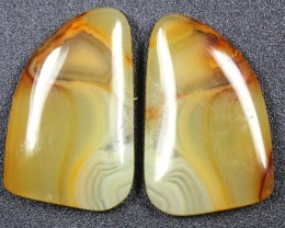 17.4 CTS WYOMING AGATE PAIR PERFECT FOR EARRINGS