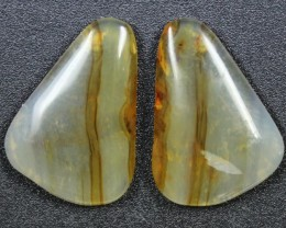 15.9 CTS WYOMING AGATE PAIR PERFECT FOR EARRINGS