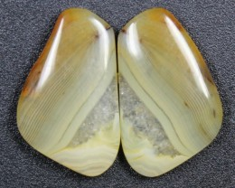 12.0 CTS WYOMING AGATE PAIR PERFECT FOR EARRINGS