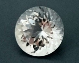 7.70ct 12mm Round White TOPAZ