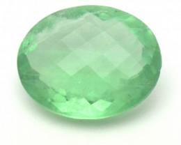 Green Fluorite oval gemstone 29.40ct