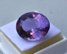 11.50 Carat Oval Cut Richly Colored Amethyst