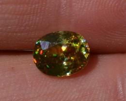 1.75 Carat Oval Cut Top Yellow Sphene