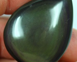 77.50 CTS OBSIDIAN TEAR DROP POLISHED BOTH SIDES
