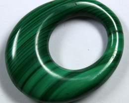63.7 CTS  MALACHITE CARVING TOP POLISH