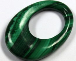 46.0 CTS  MALACHITE CARVING TOP POLISH