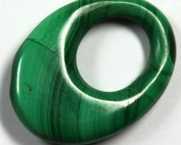 47.0 CTS  MALACHITE CARVING TOP POLISH