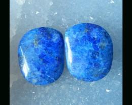 Natural Lapis Lazuli Cabochon Pair  - 25x20x6 MM