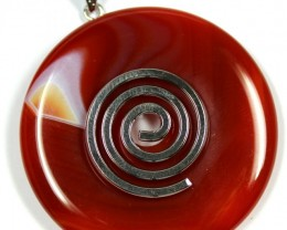 115.90 CTS AGATE TOP POLISHED STONE PENDANT