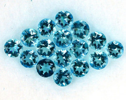 1.05 Cts 16 Pcs (2.5mm) Natural Santa maria Blue Aquamarine - NR Auction