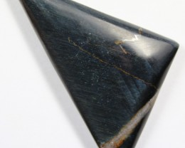 72.2 CTS TIGER EYE STONE DYED TO LOOK LIKE OBSIDIAN
