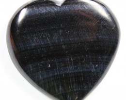 70.9 CTS TIGER EYE STONE DYED TO LOOK LIKE OBSIDIAN