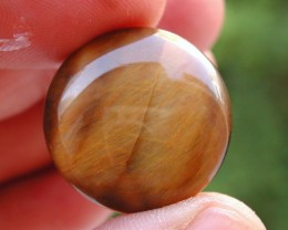 26.10ct WONDERFUL CHATOYANT ROUND TIGER EYE CAB FROM AFRICA