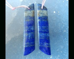 Natural Lapis Lazuli Earring Beads - 43x9x4 MM