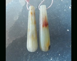 Natural Drop Earring Bead By Amazonite