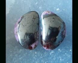 49.3Ct Natural Sugilite Cabochon Pair - 24x16x5 MM