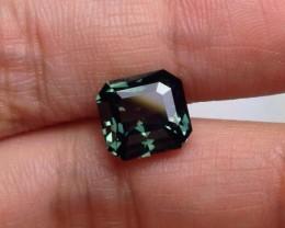 Very Rare Certified 4.52 CT Gorgeous Bluish Green Sapphire