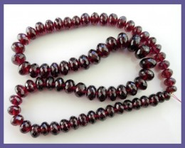 EXQUISITE AAA+ 5-10.00MM RHODOLITE GARNET MICRO-FACETED ROUNDELS!!