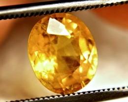 2.39 Carat Vibrant Yellow VS/SI Sapphire - Beautiful