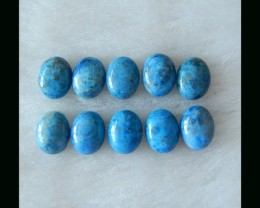 Lapis Parcel -  Natural Lapis Lazuli Oval Cabochon Pairs  - 8x7x3 MM(B18041