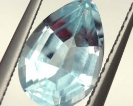 SWISS BLUE TOPAZ FACETED IRRIDATED  2 CTS  ADG-621