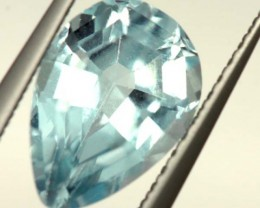 SWISS BLUE TOPAZ FACETED  IRRIDATED 2.4CTS  ADG-622