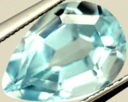 SWISS BLUE TOPAZ FACETED  IRRIDATED  2.4CTS  ADG-740