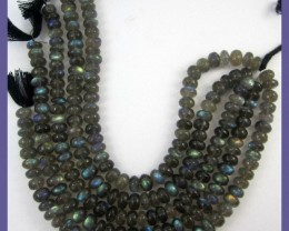 AA+ QUALITY 7-7.50MM LABRADORITE SMOOTH ROUNDEL BEADS!!