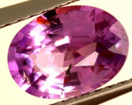 CERTIFIED PINKY PURPLE  SAPPHIRE UNTREATED 1.34 CTS  TBM-383