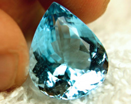 17.09 Carat Blue Brazil VVS Topaz Pear - Superb