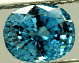 5.38 cts CERTIFIED BLUE ZIRCON CAMBODIA TBM-437