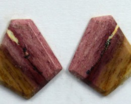 4.95 CTS JASPER PAIR POLISHED STONE GREAT RANGE IN STORE