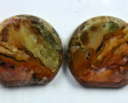 13.45 CTS JASPER PAIR POLISHED STONE GREAT RANGE IN STORE