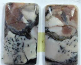 11.65 CTS JASPER PAIR POLISHED STONE GREAT RANGE IN STORE