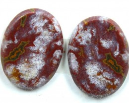 15.8 CTS JASPER PAIR POLISHED STONE GREAT RANGE IN STORE